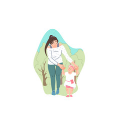 parental care and support childcare babysitting vector image