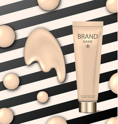 poster for cosmetic product tube with foundation vector image
