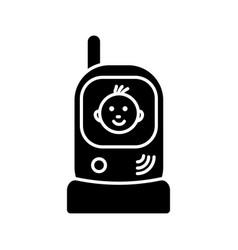 Radio nanny glyph icon vector