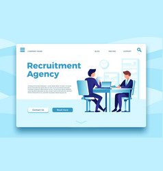 recruitment agency business employment landing vector image