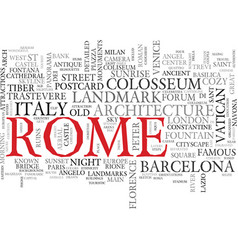 Rome word cloud concept vector