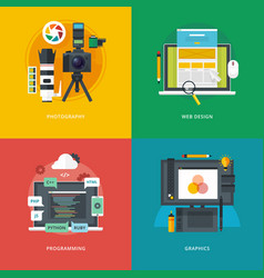 Set of flat design concepts for vector