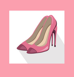 Sexy lady shoes pumps summer style pink vector