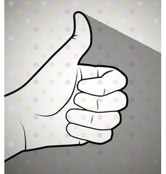 sign language design vector image