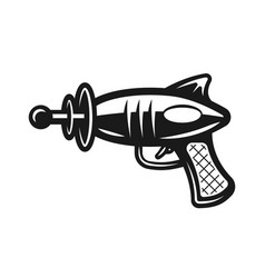 Space gun black icon isolated on white vector