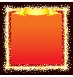 sparkling bright frame vector image