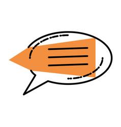 speech bubble in shape oval vector image