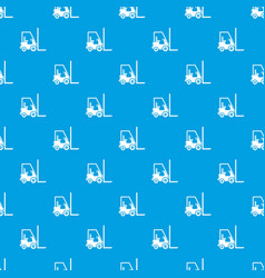 Stacker loader pattern seamless blue vector