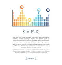 Statistic infochart in different colors analytics vector