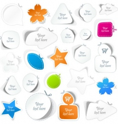 sticker set vector image