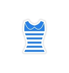 Stylish paper sticker on white background women s vector