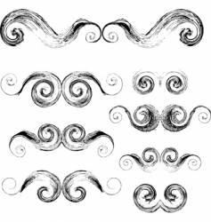 swirls elements vector image