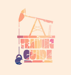 training guide concept vector image