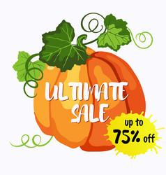 Ultimate sale design with ripe pumpkin vector