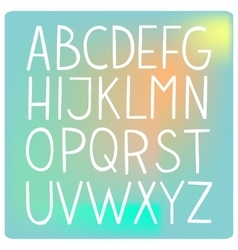 White flat hand drawn full alphabet vector image