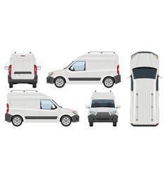 white van template vehicle branding mockup vector image