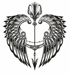 wings and arrow vector image