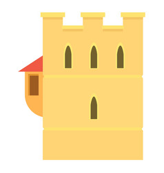 ancient fortress icon cartoon style vector image