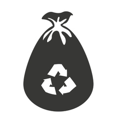 bag recycle garbage icon vector image vector image