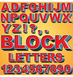 3D Block Letters vector image