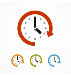 Color clock icon vector