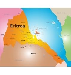 color map of Eritrea vector image