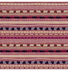 Ethnic abstract seamless pattern with African moti vector image
