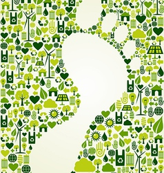 Green foot print design vector image vector image