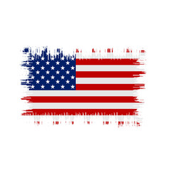 grunge american flag flag of usa vector image