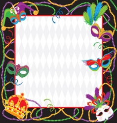 mardi gras party invitation vector image vector image