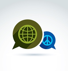 Peace for a world global peace icon conceptual vector image vector image