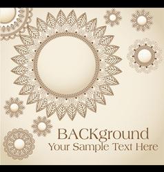 vintage flower pattern background vector image vector image