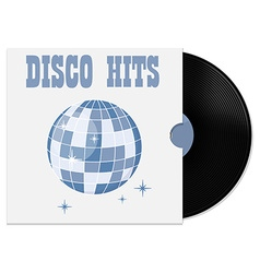 Vinyl record in cover vector image vector image