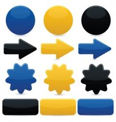 web navigation elements vector image vector image