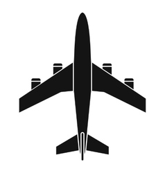 Airplane icon simple style vector image