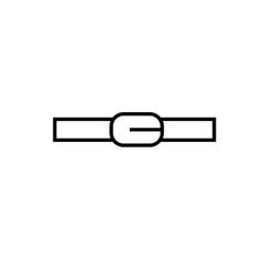 belt icon vector image