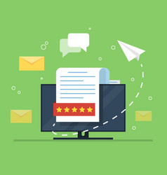 e-mail marketing the concept of an open e-mail vector image vector image