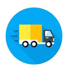 Fast shipping flat circle icon vector image
