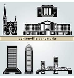 Jacksonville landmarks and monuments vector image