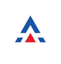 letter a logo design rlement with with triangle vector image vector image