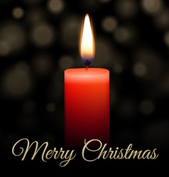 Merry Christmas candle vector image