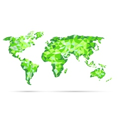 World Map polygonal precision low-poly vector image vector image