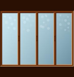 cartoon window with bokhe effect on glass indoor vector image vector image