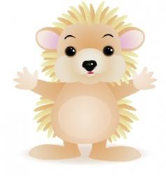 porcupine cartoon vector image vector image