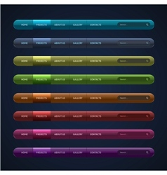 Set of 8 navigation bar for website vector image vector image