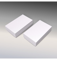 White product cardboards package boxes mockup vector image vector image