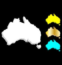 3d map of australia vector image