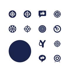 Aim icons vector
