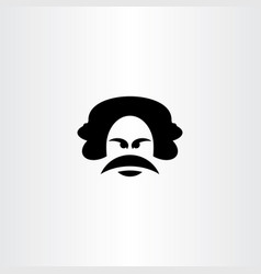 angry man with mustache icon vector image