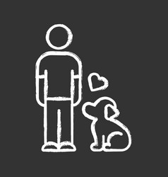 Animals welfare and help chalk icon pup vector